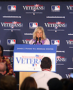 Dr. Jill Biden at The James J. Peters VA Medical Center Visit with First Lady Michelle Obama and Dr. Jill Biden, wife of Vice President Joe Biden, along with baseball officials visit the James J. Peters VA Medical Center in the Bronx as a show of support for veterans through the Welcome Back Veterans.