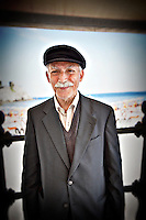 An elderly man in Amalfi, Italy.