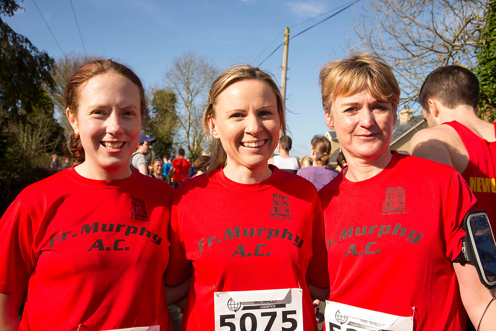 12/03/2017, Bohermeen AC 10k road Race & Half Marathon<br /> Pictured at the event, L-R, Suzanne Forde, Emma Priest & Michelle Geraghty (Father Murphys AC)<br /> <br /> David Mullen / www.cyberimages.net<br /> ISO: 250; Shutter: 1/250; Aperture: 7.1; <br /> File Size: 2.5MB<br /> Actuations: