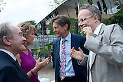 LORD PALUMBO; JULIA PEYTON-JONES;  BEN BRADSHAW; HANS ULRICK OBRIST, 2009 Serpentine Gallery Summer party. Sponsored by Canvas TV. Serpentine Gallery Pavilion designed by Kazuyo Sejima and Ryue Nishizawa of SANAA. Kensington Gdns. London. 9 July 2009.