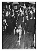 Ex policewoman Sharelle dancing at the 'Get Plastered'  Christmas Party. Groucho Club, Dean St. Soho, London. 5 December 1997