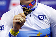 Illustration gold medal, Men Scratch Race , during the UEC Track Cycling European Championships Glasgow 2018, at Sir Chris Hoy Velodrome, in Glasgow, Great Britain, Day 2, on August 3, 2018 - Photo Luca Bettini / BettiniPhoto / ProSportsImages / DPPI - Belgium out, Spain out, Italy out, Netherlands out -