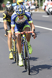 July 14, 2018 - Amiens Metropole, FRANCE - Dutch Marco Minnaard of Wanty-Groupe Gobert pictured in action during the eighth stage of the 105th edition of the Tour de France cycling race, from Dreux to Amiens Metropole (181 km), in France, Saturday 14 July 2018. This year's Tour de France takes place from July 7th to July 29th. BELGA PHOTO YORICK JANSENS (Credit Image: © Yorick Jansens/Belga via ZUMA Press)