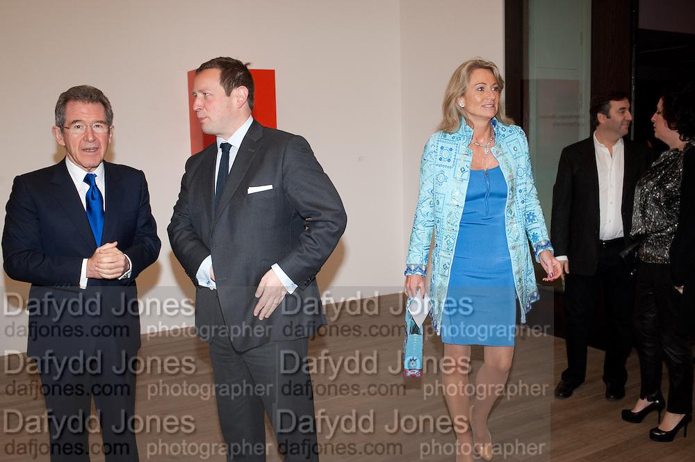 LORD BROWNE; ED VAIZEY; LADY MYNERS, Damien Hirst, Tate Modern: dinner. 2 April 2012.