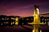 "France. Lyon . Lighting on the Rhone. ""College footpath"" illuminations sur le Rhône: passerelle du collègeR00063 14L930828f P0000206"