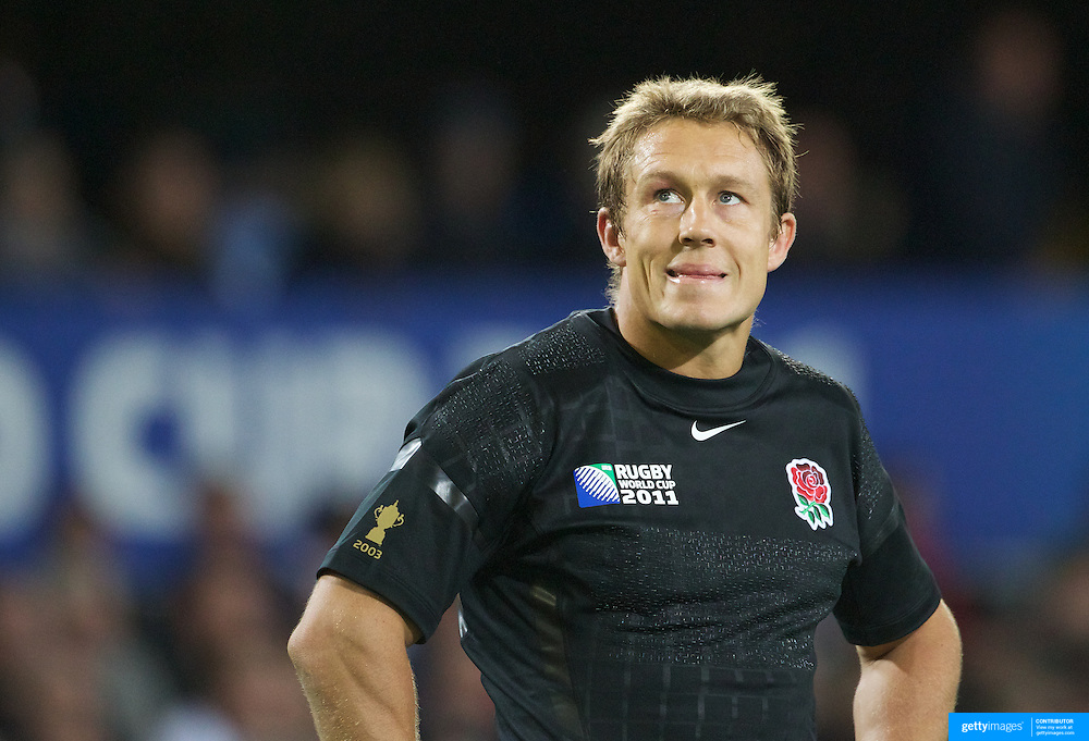 England fly half Jonny Wilkinson during the England V Argentina, Pool B match during the Rugby World Cup in Dunedin, New Zealand,. 10th September 2011. Photo Tim Clayton