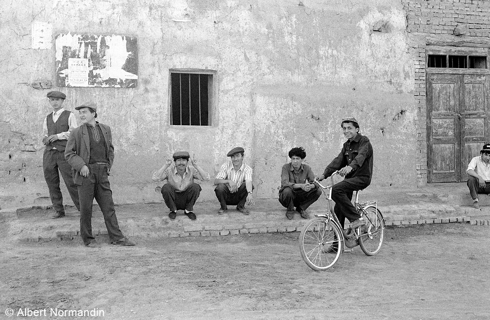Group of men hanging around