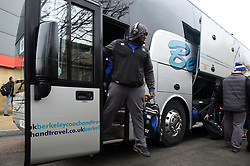 Beno Obano and the rest of the Bath Rugby team arrive at Kingsholm - Mandatory byline: Patrick Khachfe/JMP - 07966 386802 - 30/03/2018 - RUGBY UNION - Kingsholm Stadium - Gloucester, England - Bath Rugby v Exeter Chiefs - Anglo-Welsh Cup Final