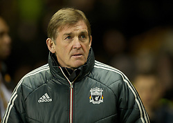 WOLVERHAMPTON, ENGLAND - Tuesday, January 31, 2012: Liverpool's manager Kenny Dalglish against Wolverhampton Wanderers during the Premiership match at Molineux. (Pic by David Rawcliffe/Propaganda)