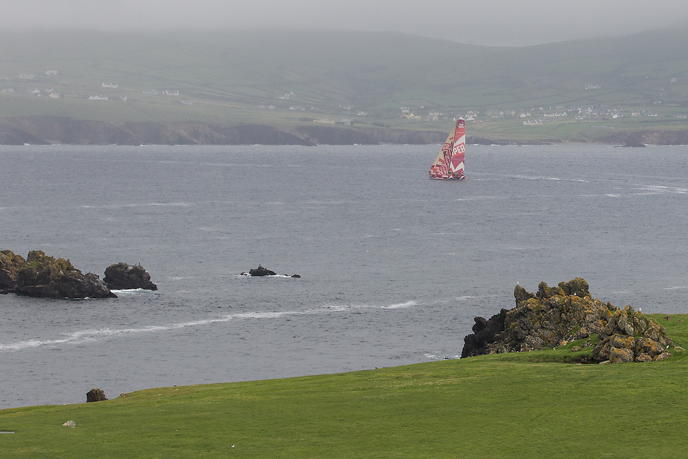 IRELAND, Dingle Peninsula. 2nd July 2012. Volvo Ocean Race, Leg 9, Lorient to Galway. Camper with Emirates Team New Zealand.