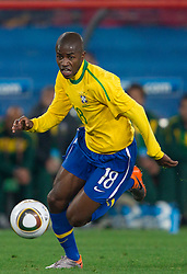 Ramires of Brazil during the 2010 FIFA World Cup South Africa Round of Sixteen match between Brazil and Chile at Ellis Park Stadium on June 28, 2010 in Johannesburg, South Africa. Brazil defeated Mexico 3-0 and qualified for quarterfinals.  (Photo by Vid Ponikvar / Sportida)