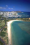 Ala Moana Beach, Honolulu, Oahu, Hawaii, USA<br />