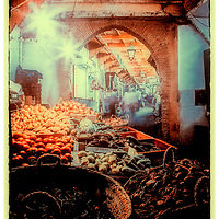 Where: Fez, Morocco. Great street market.