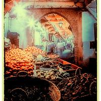 Where: Fez, Morocco. Great street market.