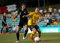 International Women's Friendly Matchs 2019 / <br /> Cup of Nations Tournament 2019 - <br /> Australia v New Zealand 2-0 ( Leichhardt Oval Stadium - Sidney,Australia ) - <br /> Caitlin Foord of Australia (R) ,Challenges with Abby May Erceg of New Zealand (L)