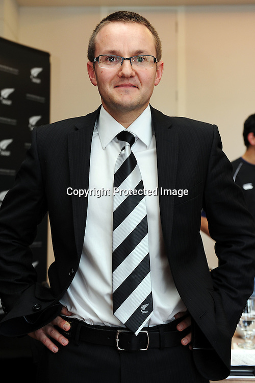 Mike Hesson, New Zealand Cricket press conference to announce Mike Hesson as the new coach of the New Zealand Black Caps cricket team. Pullman Hotel, Auckland. 20 July 2012. Photo: Andrew Cornaga/photosport.co.nz