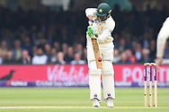 Haris Sohail of Pakistan with a defensive start to DAy Two of the NatWest Test Match match at Lord's, London<br /> Picture by Simon Dael/Focus Images Ltd 07866 555979<br /> 25/05/2018