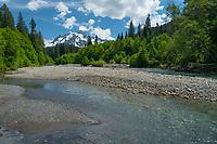 Mount Shuksan from the Nooksack River, North Cascades Washington