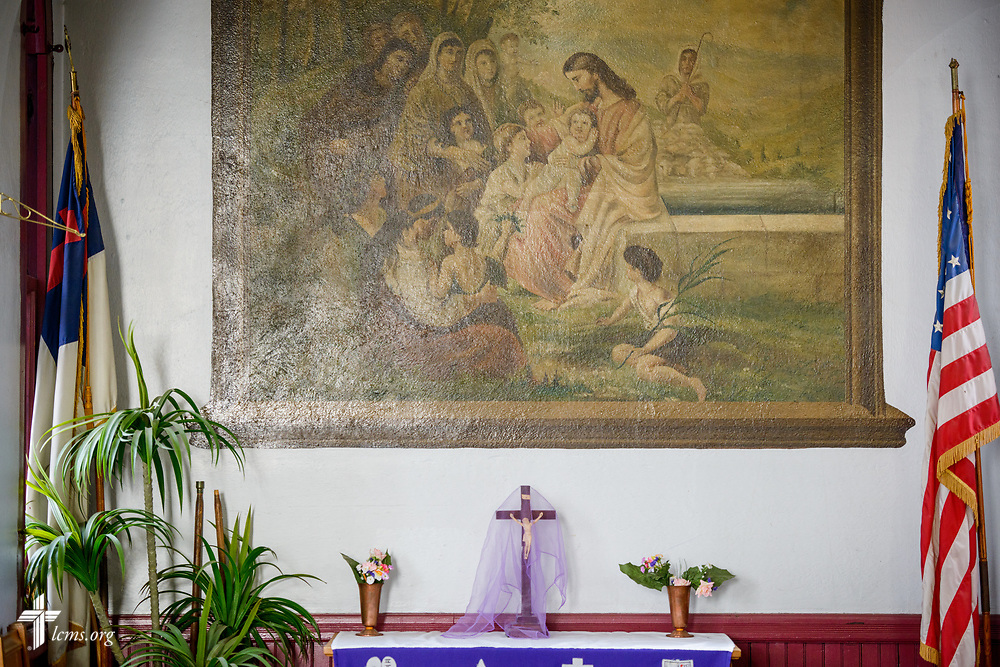 An altar in the fellowship hall of St. Thomas Lutheran Church, Baltimore, on Saturday, March 24, 2018. LCMS Communications/Erik M. Lunsford