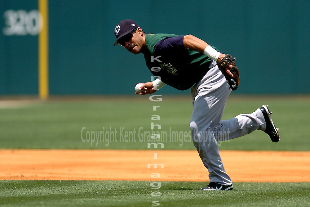 Throwing to first base