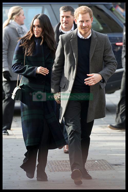 February 13, 2018 - Edinburgh, United Kingdom - Image licensed to i-Images Picture Agency. 13/02/2018. Edinburgh,Scotland,United Kingdom. Prince Harry and Meghan Markle arriving at the Social Bite cafe in Edinburgh, Scotland, United Kingdom. (Credit Image: © Stephen Lock/i-Images via ZUMA Press)