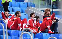 FUSSBALL  WM 2018  Achtelfinale  03.07.2018 Schweden - Schweiz Enttaeuschung Schweizer Fans im WM Stadion in St. Petersburg