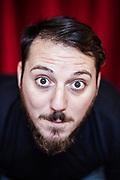 4 novembre 2016, Napoli Italia - Rione Sanità, Nuovo Teatro Sanità. Carlo Geltrude, 26 anni nato a Napoli, quartiere i Miracoli, attore.