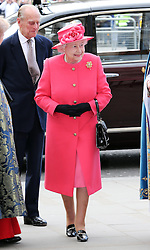 The Queen and Duke of Edinburgh arriving at the annual Commonwealth Observance at Westminster Abbey in London, Monday, 10th March 2014. Picture by Stephen Lock / i-Images