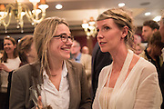 ERICA COBB;; IONA HEMPHILL; , David Campbell Publisher of Everyman's Library and Champagen Bollinger celebrate the completion of the Everyman Wodehouse in 99 volumes and the 2015 Bollinger Everyman Wodehouse prize shortlist. The Archive Room, The Goring Hotel. London. 20 April 2015.