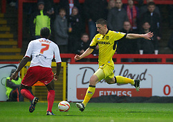 STEVENAGE, ENGLAND - Saturday, November 24, 2012: Tranmere Rovers' Jake Cassidy in action against Stevenage during the Football League One match at Broadhall Way. (Pic by David Rawcliffe/Propaganda)