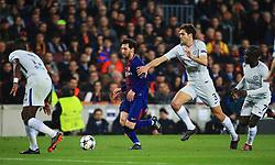 Luis Suarez of Barcelona takes on Marcos Alonso of Chelsea - Mandatory by-line: Matt McNulty/JMP - 14/03/2018 - FOOTBALL - Camp Nou - Barcelona, Catalonia - Barcelona v Chelsea - UEFA Champions League - Round of 16 Second Leg