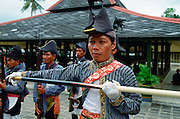 Ceremonial guards at Sultan's Palace at Yogyakarta, Indonesia