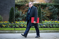 © Licensed to London News Pictures. 16/01/2018. London, UK. Scotland Secretary David Mundell arrives on Downing Street for the weekly Cabinet meeting. Photo credit: Rob Pinney/LNP