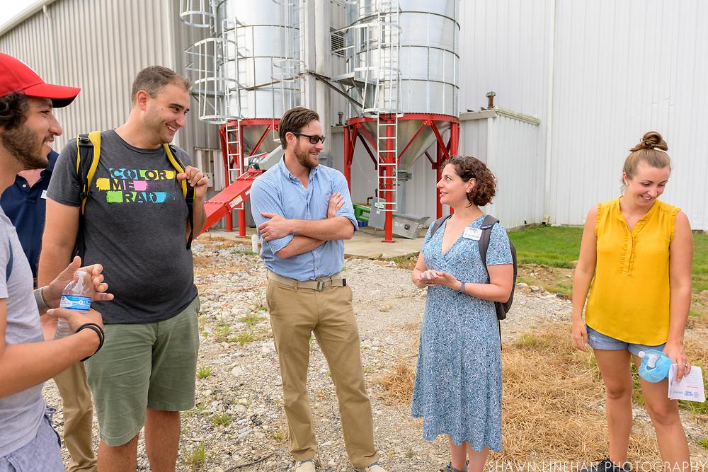 Chad Rosen with the NASDA Foundation congressional staffers farm tour