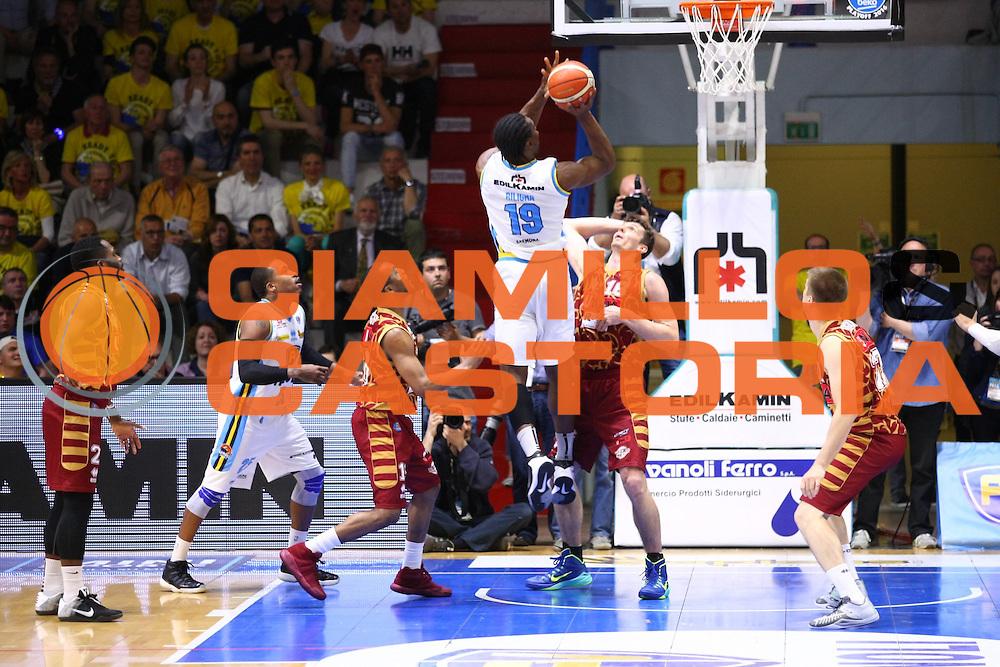 Cremona 08.05.2016<br /> Basket Serie A - Playoff Gara 1<br /> Vanoli Cremona - Umana Venezia<br /> <br /> Nella foto: Stephan Biligha