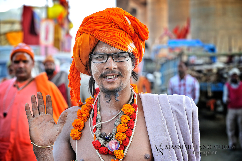 Sadhu (or Baba) during the Maha Kumbh Mela in Allahabad.