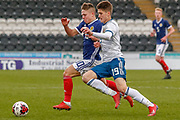 Kai Kennedy (Rangers FC) & Aleksandr Mukhin challenge for the ball during the U17 European Championships match between Scotland and Russia at Simple Digital Arena, Paisley, Scotland on 23 March 2019.