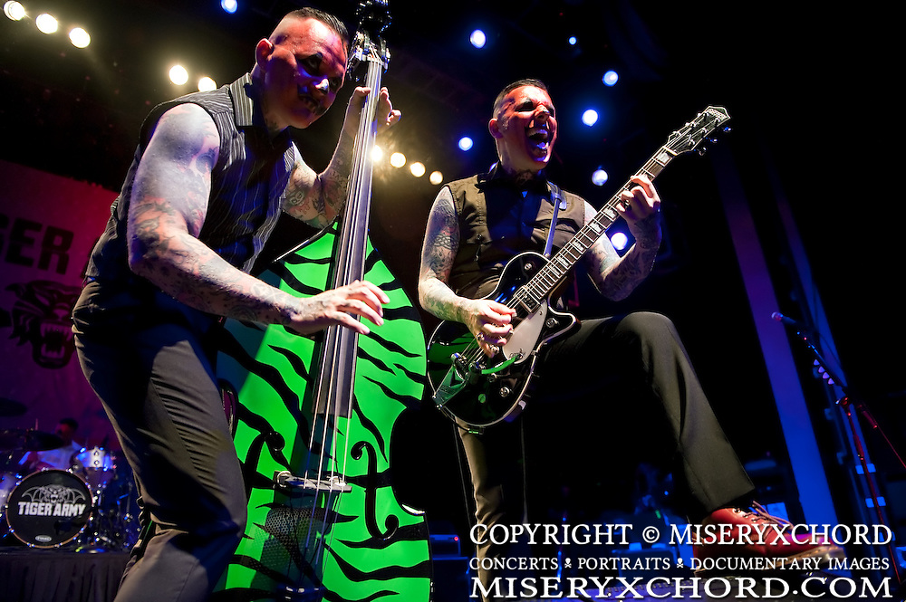 Tiger Army performs at the second annual OCtoberflame Festival in Anaheim California USA on October 31 2009