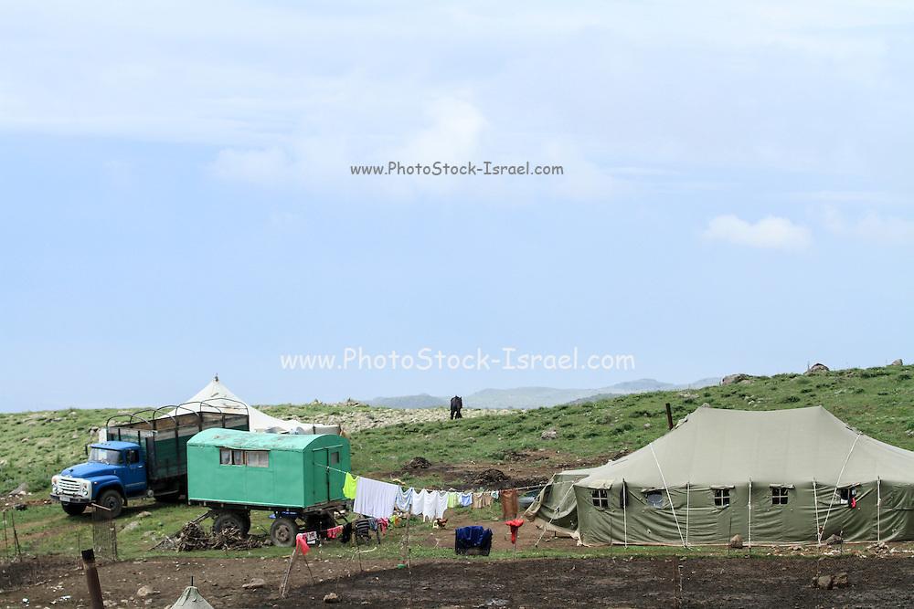 Romani camp Aragatsotn Province, Armenia