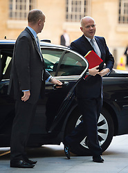 © London News Pictures. 08/09/2013. London, UK.  British Foreign Secretary WILLIAM HAGUE arriving at BBC Broadcasting House in London before appearing on the The Andrew Marr show on BBC One. Photo credit: Ben Cawthra/LNP