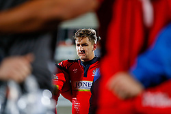 Bristol Rugby Winger George Watkins looks frustrated after Bristol lose the match 30-5 - Mandatory byline: Rogan Thomson/JMP - 13/11/2015 - RUGBY UNION - Kingspan Stadium - Belfast, Northern Ireland - Ulster Ravens v Bristol Rugby - The British & Irish Cup Pool 2.