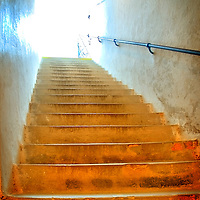 Steps and light