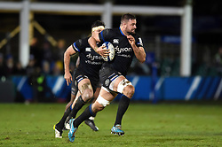 Elliott Stooke of Bath Rugby goes on the attack - Mandatory byline: Patrick Khachfe/JMP - 07966 386802 - 06/12/2019 - RUGBY UNION - The Recreation Ground - Bath, England - Bath Rugby v Clermont Auvergne - Heineken Champions Cup
