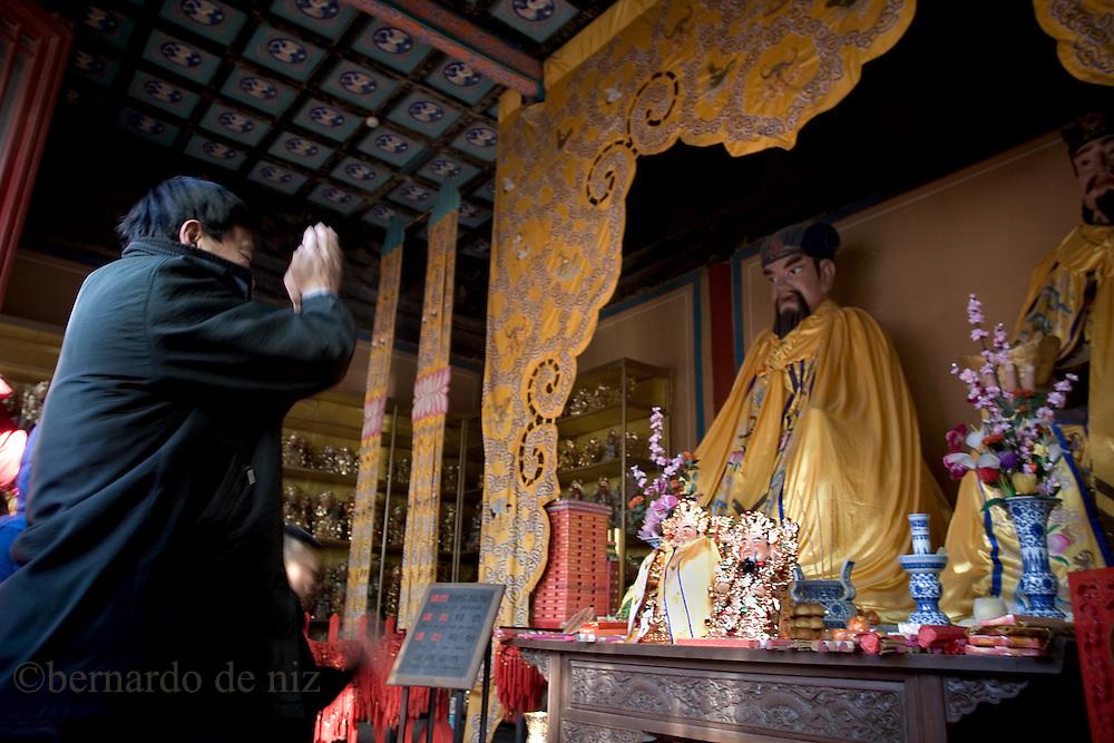 Chinese New Year celebration in Beijing, China, on Monday,  February 7, 2008. Photographer: Bernardo De Niz/