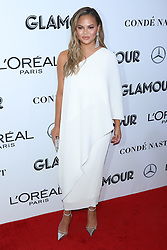 Chrissy Teigen attends the 2018 Glamour Women of the Year Awards at Spring Studios in New York