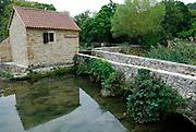 Old mill buildings, Krka National Park, Croatia