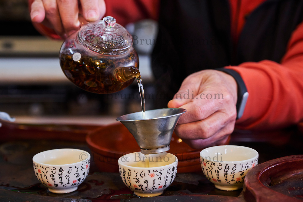 Taïwan, district  de Hsinchu, maison de thé King Tai Tea, ceremonie du thé avec monsieur Lo Chi-Chuan// Taiwan, Hsinchu county, King Tai tea teahouse, tea ceremony with mister Lo Chi-Chuan