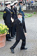 14.04.11. Copenhagen, Denmark.Prince Nicolai's leaves the Holmens Church after christening ceremony.Photo: Ricardo Ramirez