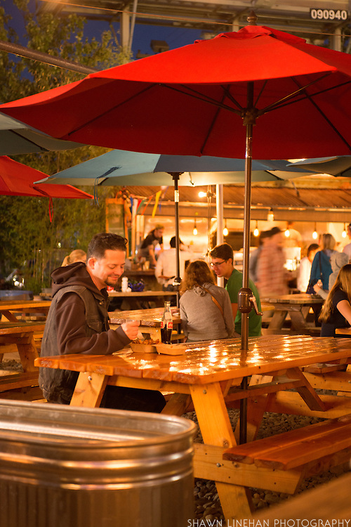 The Cartopia food pod in SE Portland, Oregon is one of the original food pods in the city.
