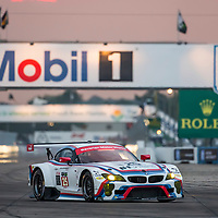 Sebring, FL - Mar 19, 2015:  The BMW Team RLL races through the turns at 12 Hours of Sebring at Sebring Raceway in Sebring, FL.